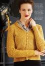 Вязание кардигана Shawl-Collar, Vogue зима 2014-2015