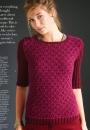 Вязание пуловера Short Sleeve, Vogue зима 2014-2015