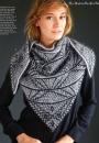 Вязание шали Art Deco Mosaic, Vogue зима 2014-2015