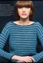Вязание пуловера Bateau-Neck Pullover, Vogue Knitting