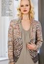 Вязание кардигана Open-Front, Vogue весна-лето 2015