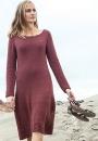 Вязаное спицами платье с ажурным низом Emmeline