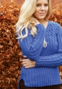 Вязаный спицами пуловер Faeroes