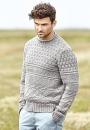 Мужской пуловер Docking узором из лицевых и изнаночных петель