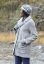 Зимняя шапка и варежки Norrland с жаккардом и двухцветной косой