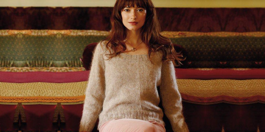 Женский пуловер из мохера