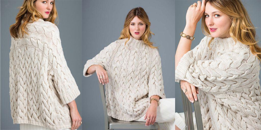 хорошее вязать объемный свитер спицами бренд outdoor одежды