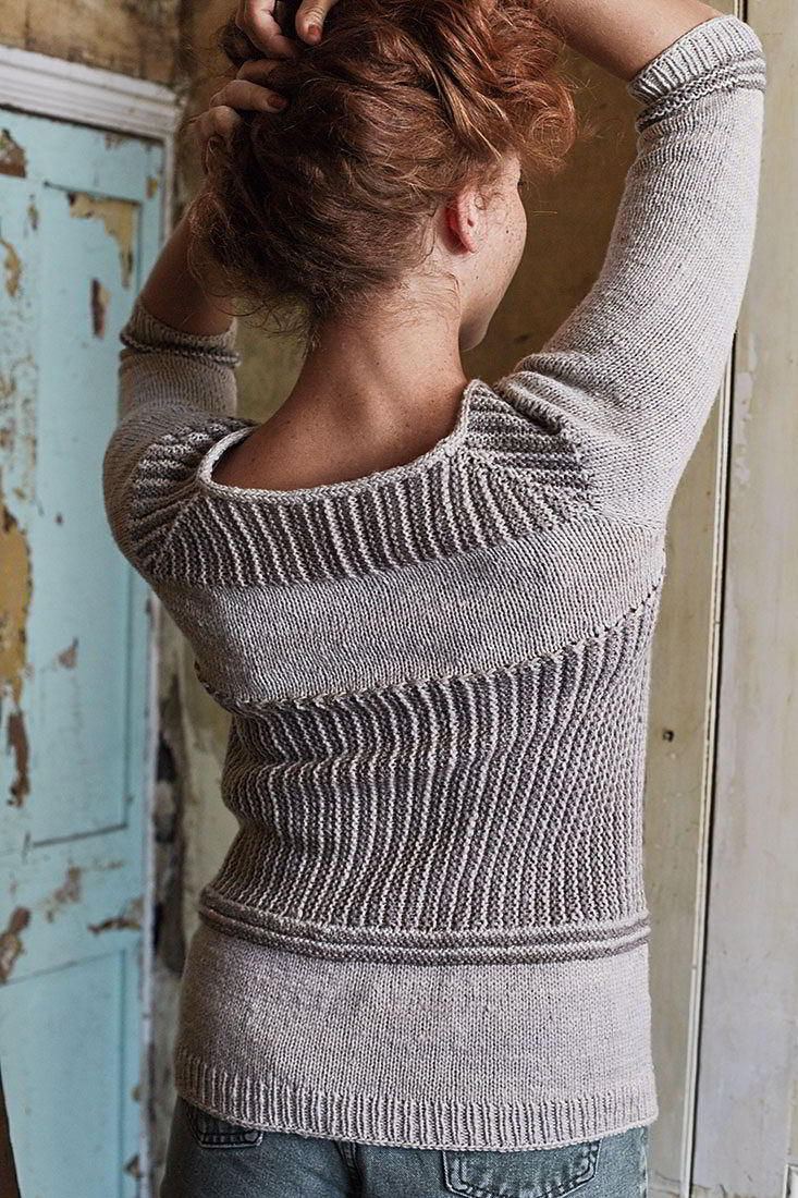 пуловер укороченными рядами Arbus вяжиру