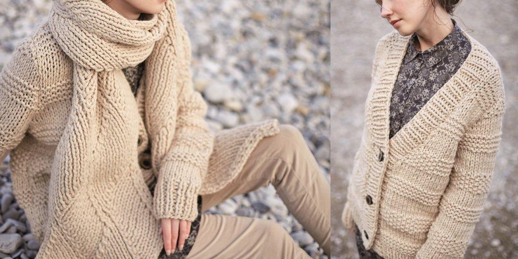 Модное вязание из толстой пряжи 54
