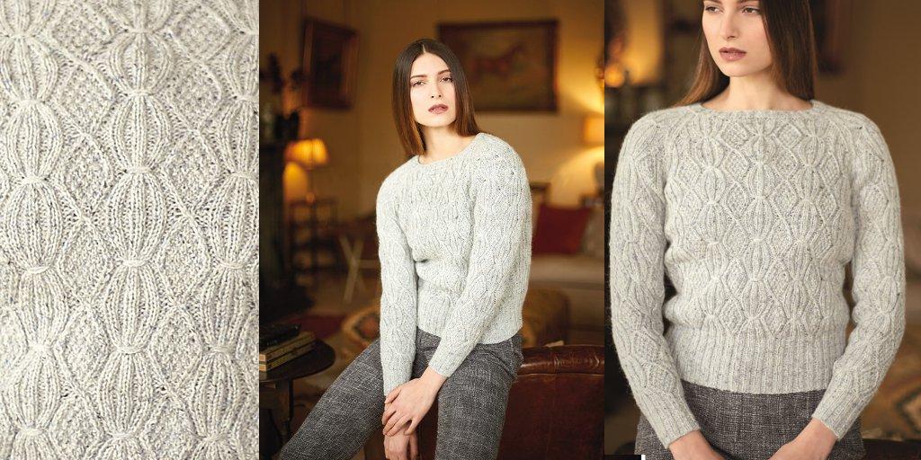 Вязание спицами стильного свитера 226