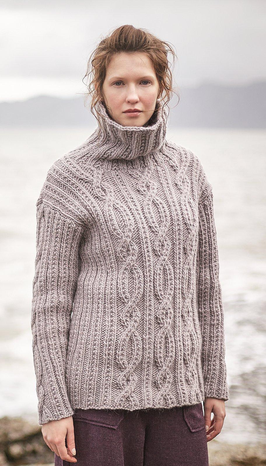длинный свитер с косами Havana вяжиру