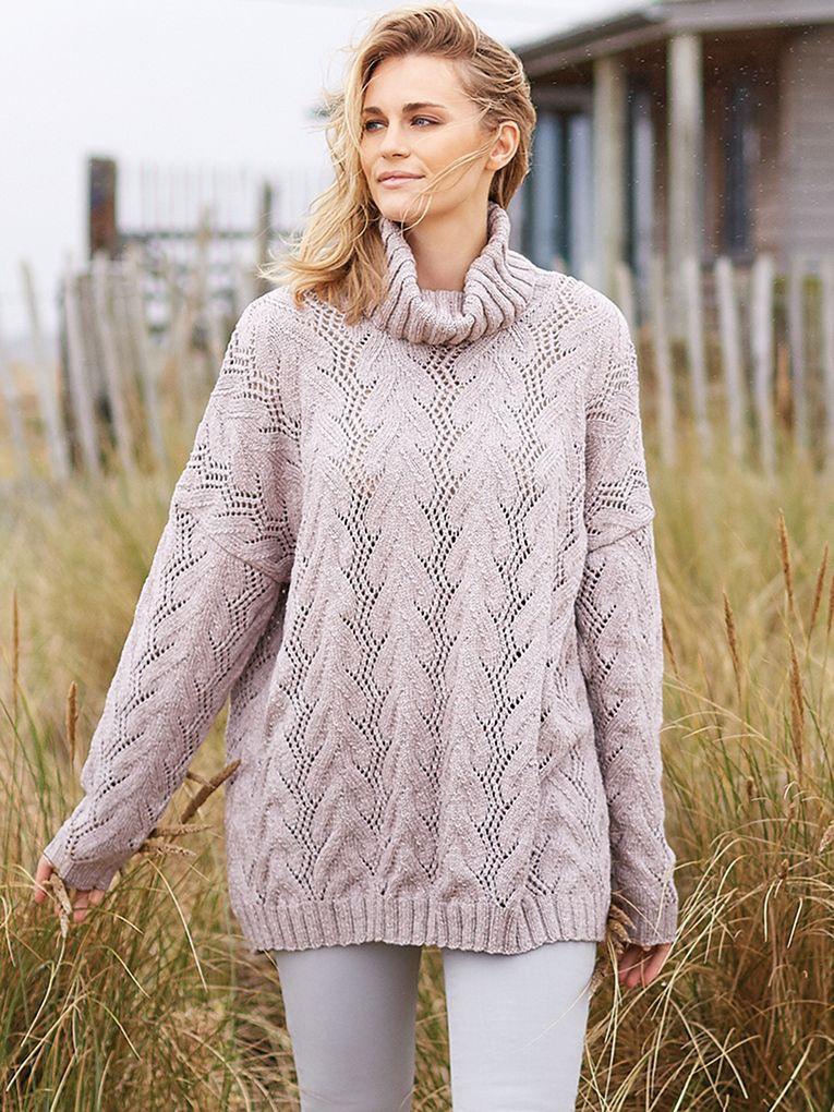 схема вязания ажурного свитера спицами для женщин