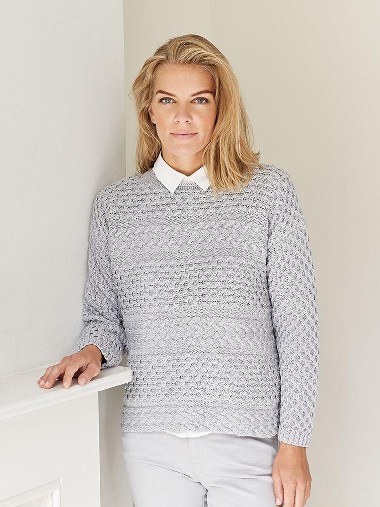 Пуловер с косами женский