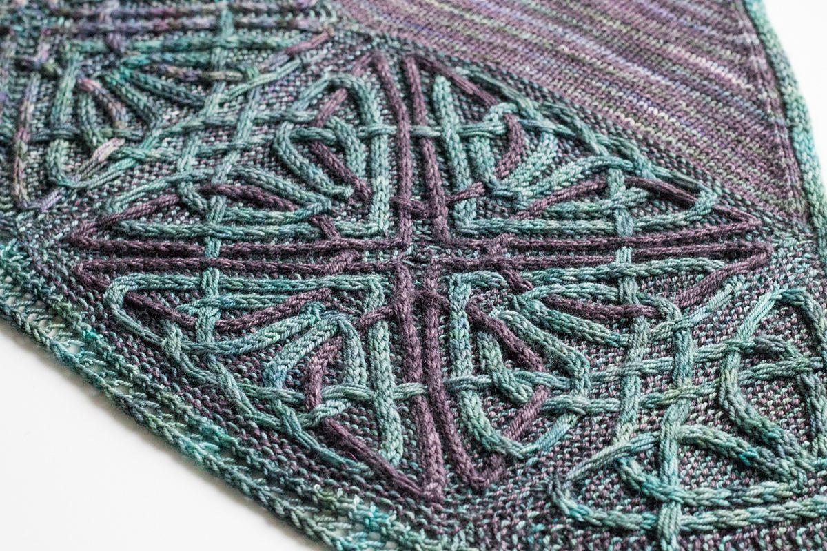 кельтские узоры спицами для шали Durrow вяжиру