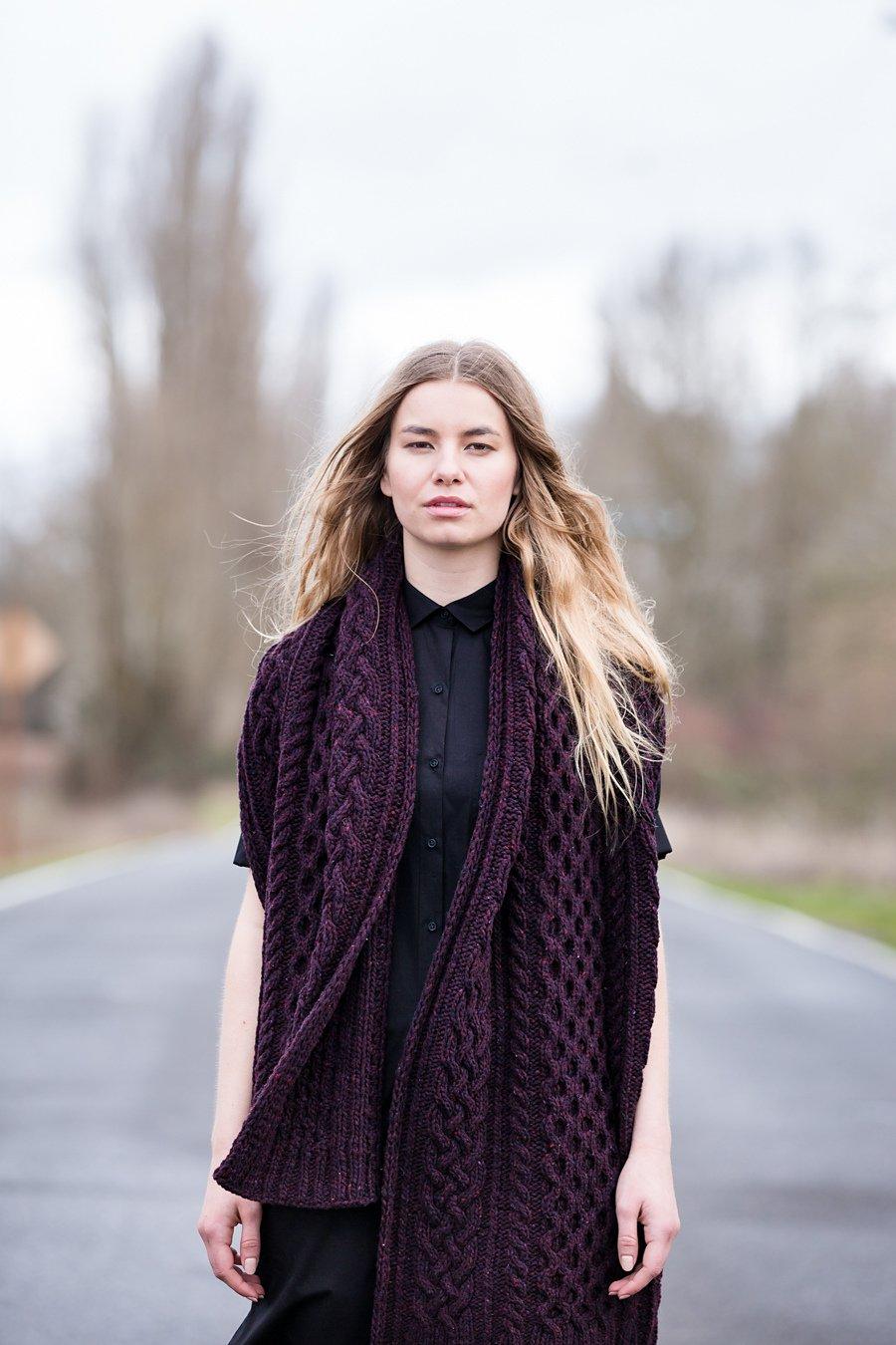 шарф толстая пряжа схема
