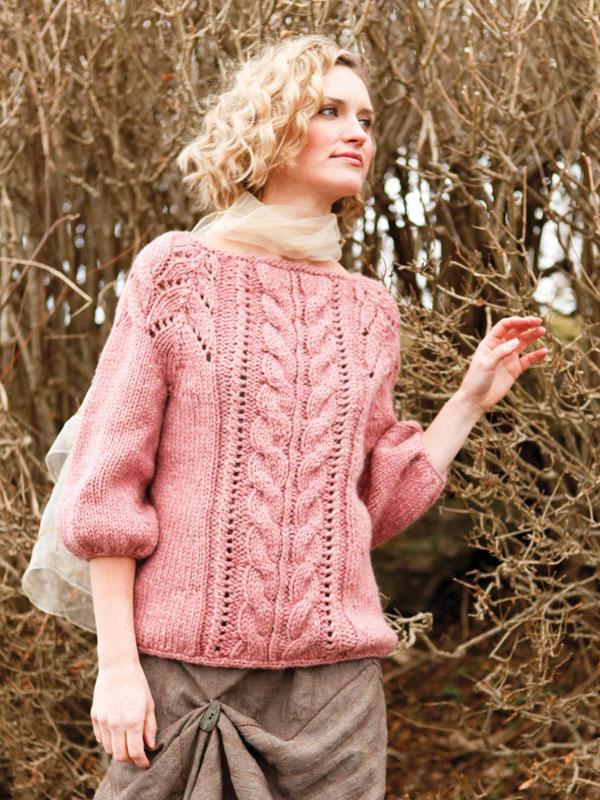 Вязание оригинального свитера спицами 960