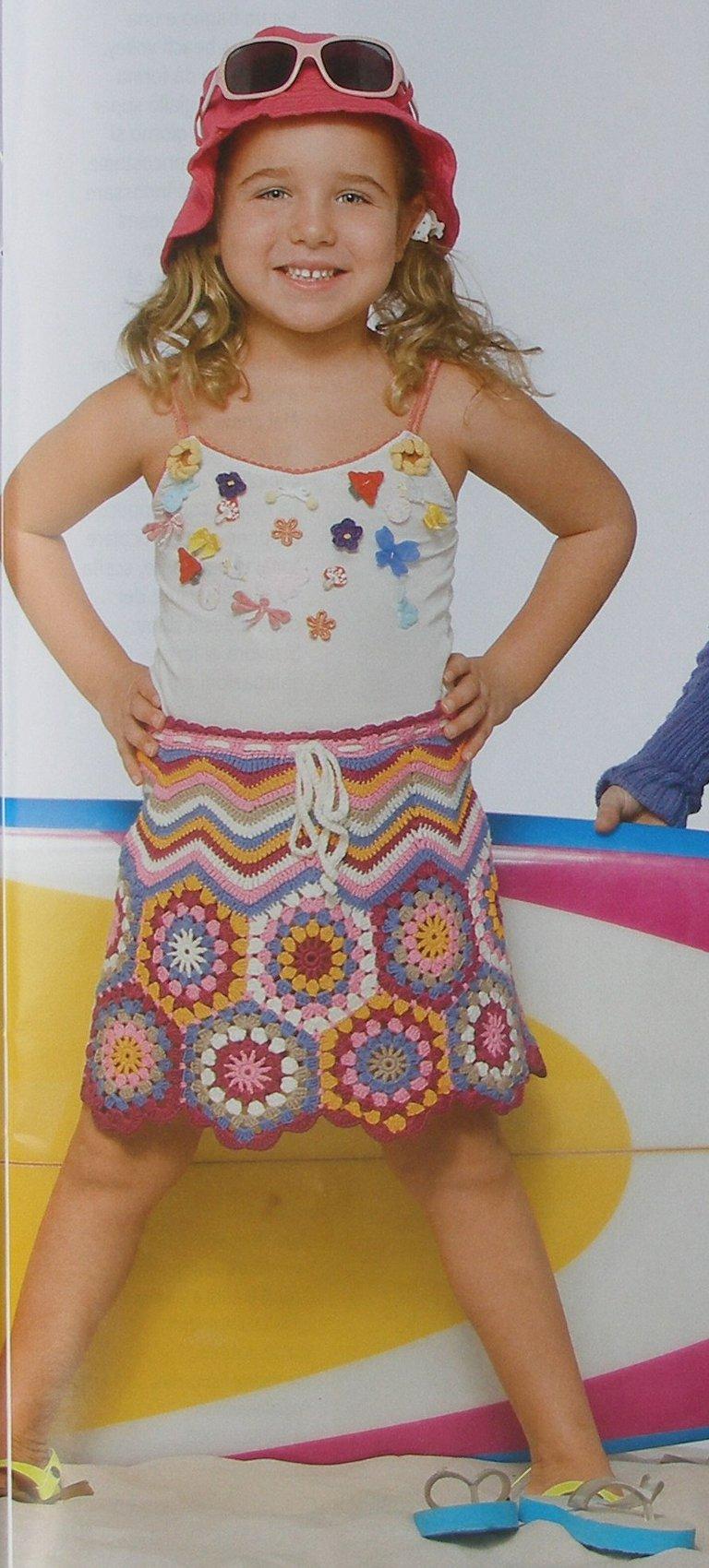 вязание японское крючком юбки