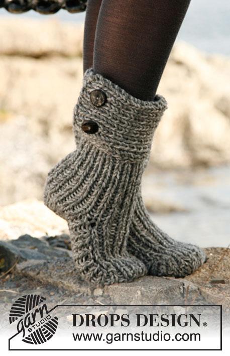 Материалы для вязаных носков :
