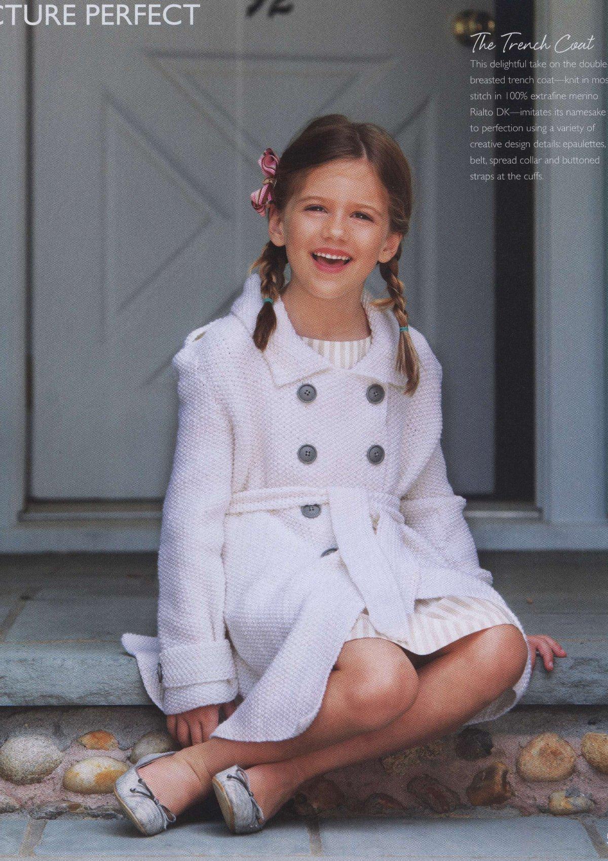 вязание пальто для девочек с описанием