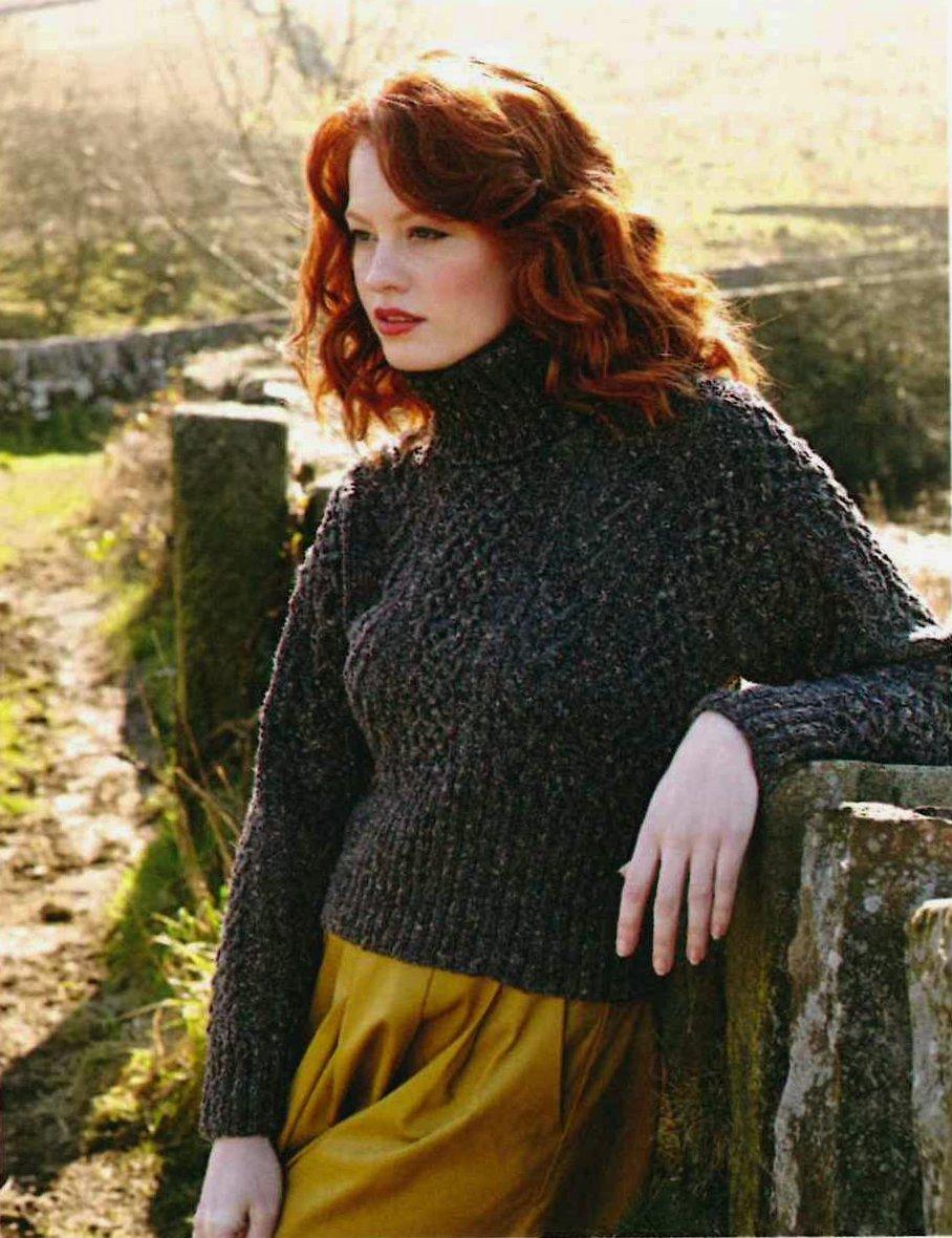 Вязание свитера женского спицами с косами