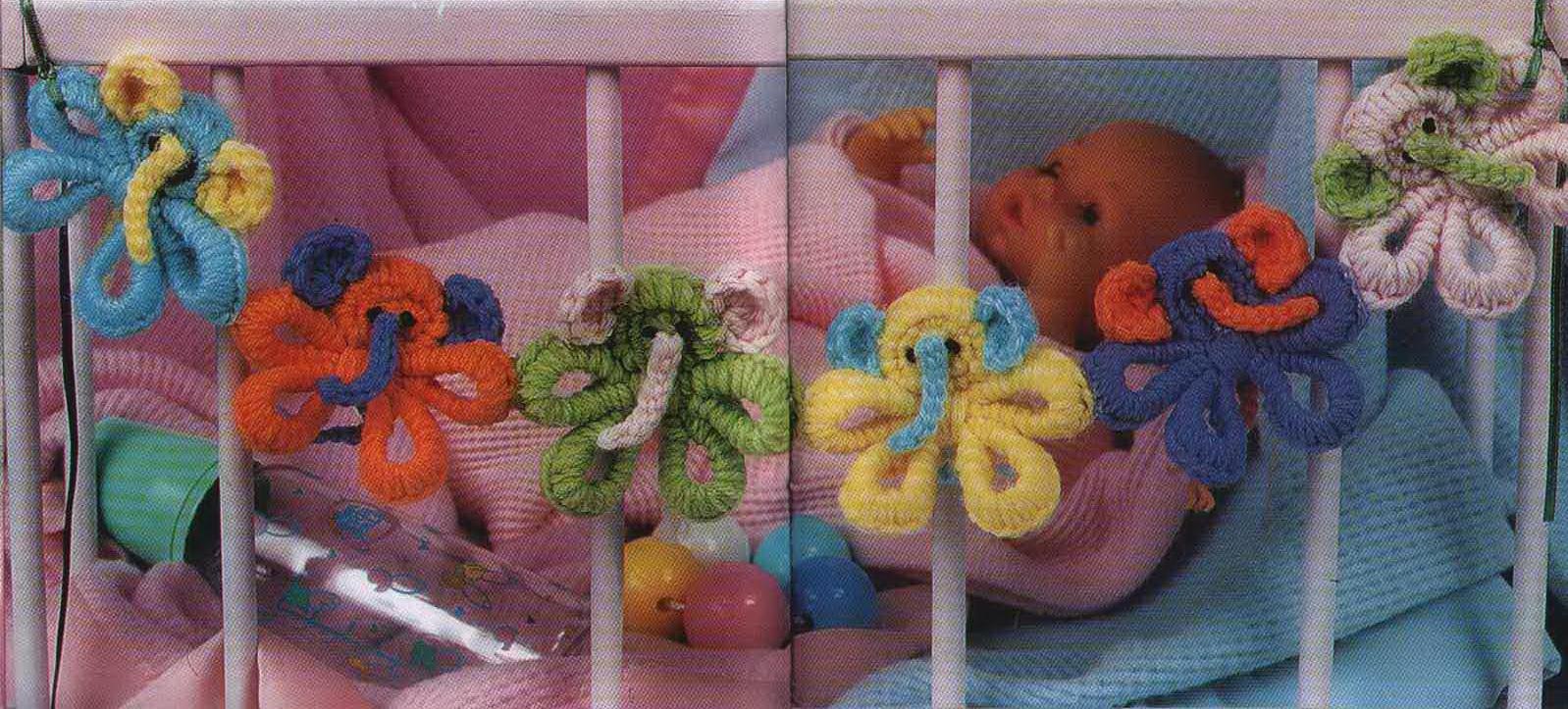Погремушки для новорожденных крючком