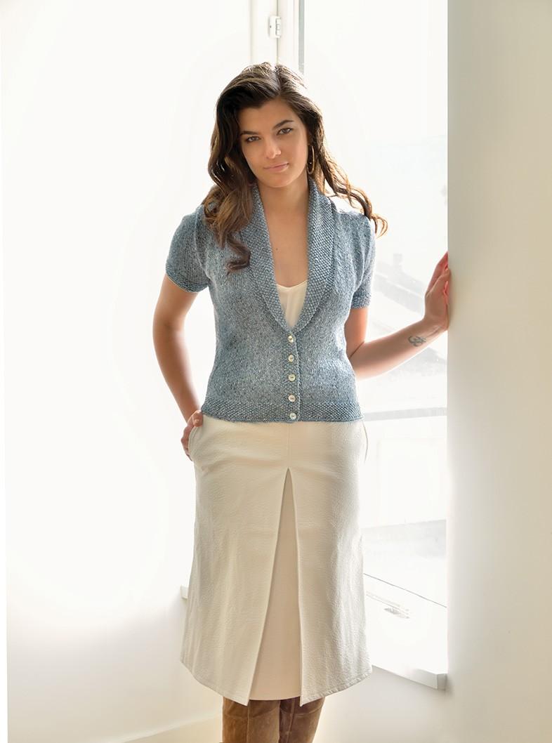схема вязаной юбки спицами модель трапеция