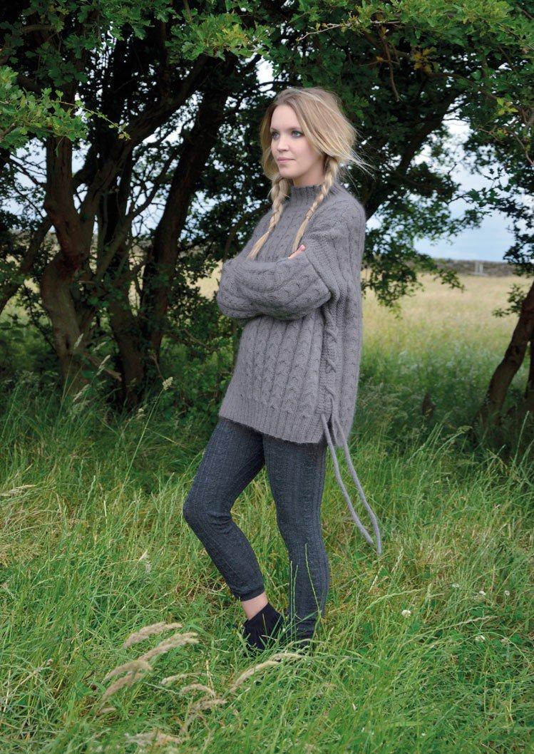 вязанный женский полосатый свитер схема
