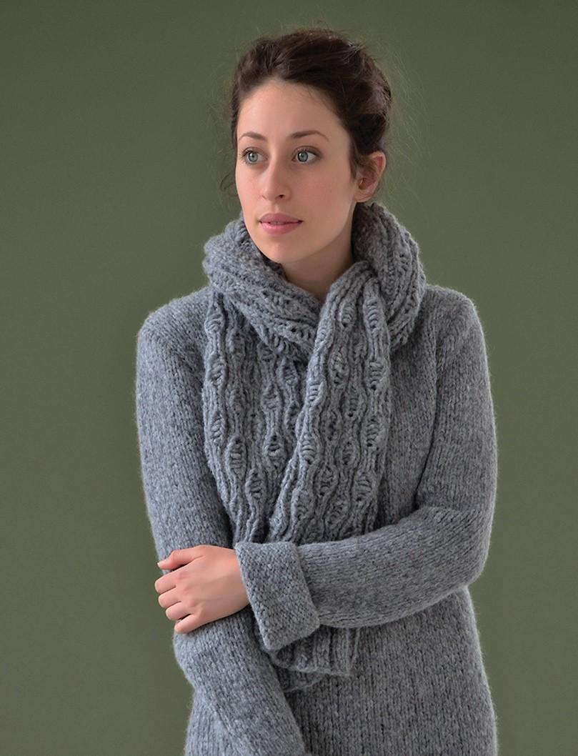 Бесплатно вязание шарф