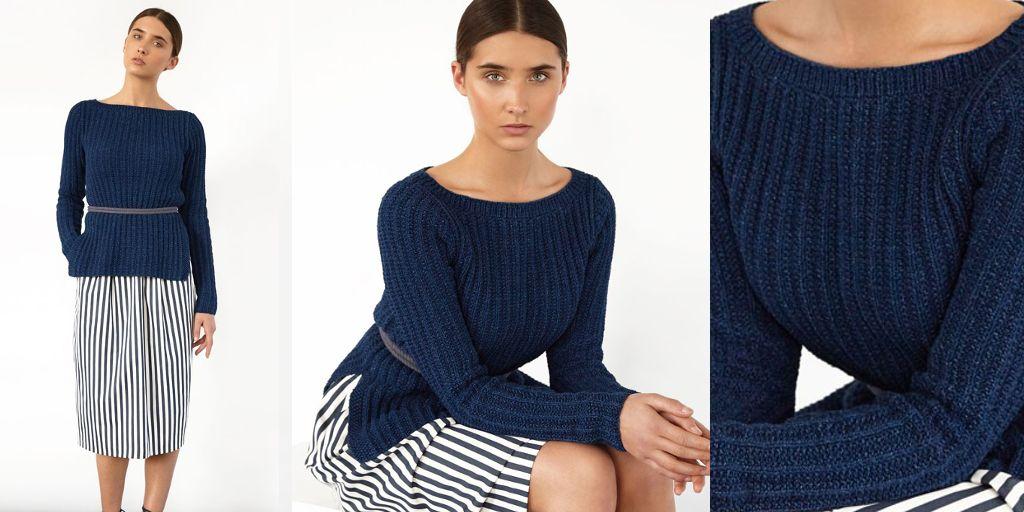 Вязаный Пуловер Резинкой