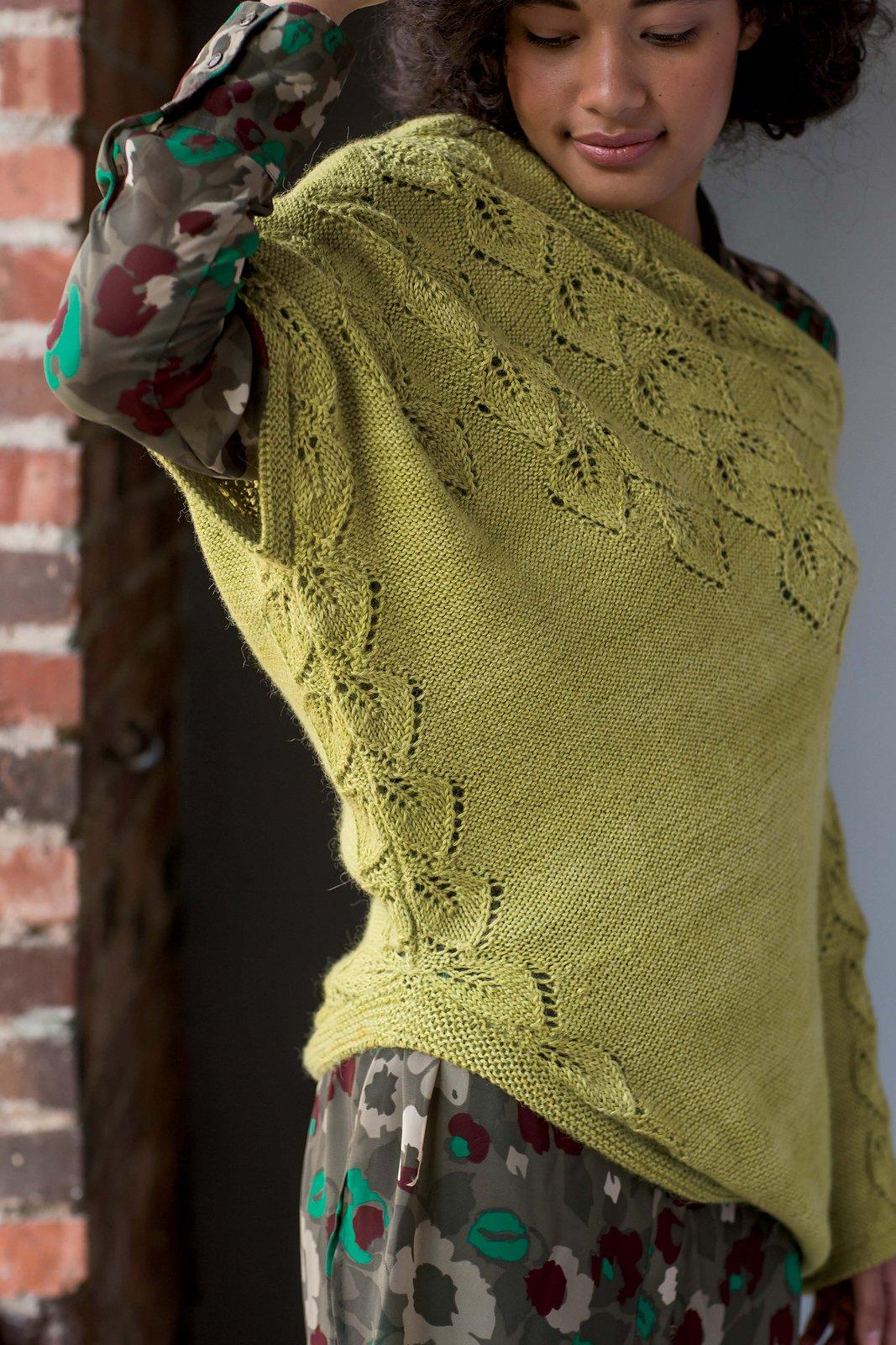 Ассиметричный жакет вязание спицами