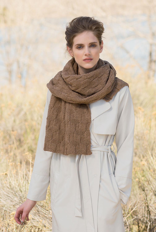 вязание ажурного шарфа спицами со схемами