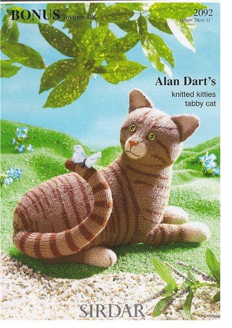 Вязание игрушки Полосатый кот, Алан Дарт.