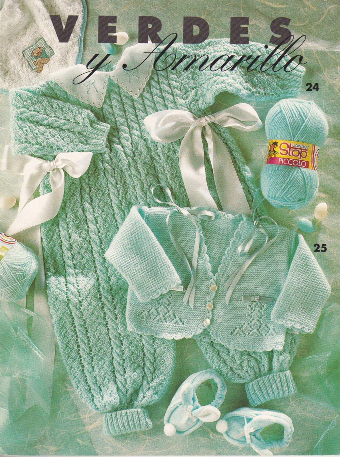 Комбинезон и жакет для малышей Verde Agua, Lanas Stop