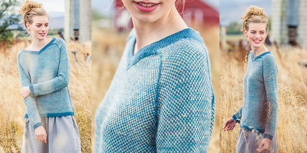 Пуловер С Широким Вырезом Горловины