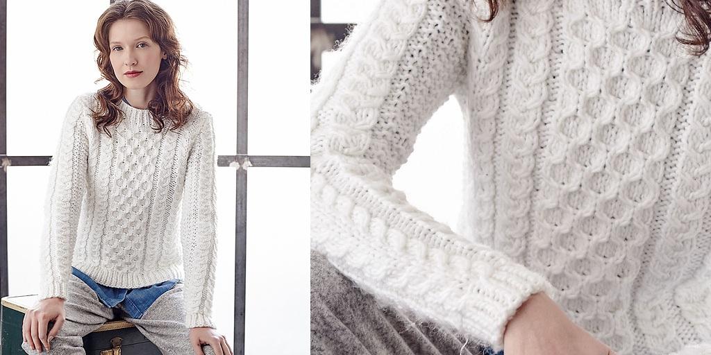 Вязание свитеров с косами спицами 668