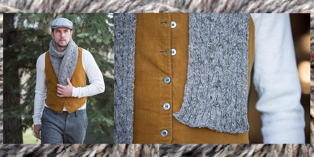 Мужские шарфы для вязания 151
