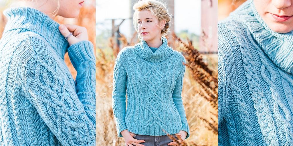 Вязание свитеров с косами спицами 11