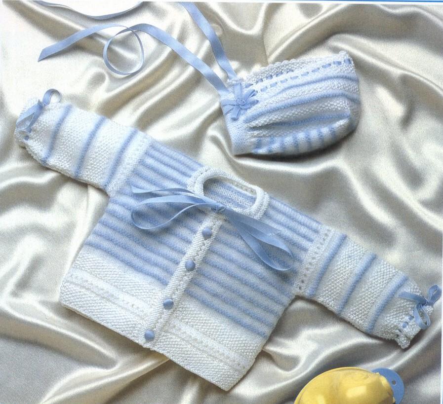 Вязание кофточки для новорожденного мальчика 350