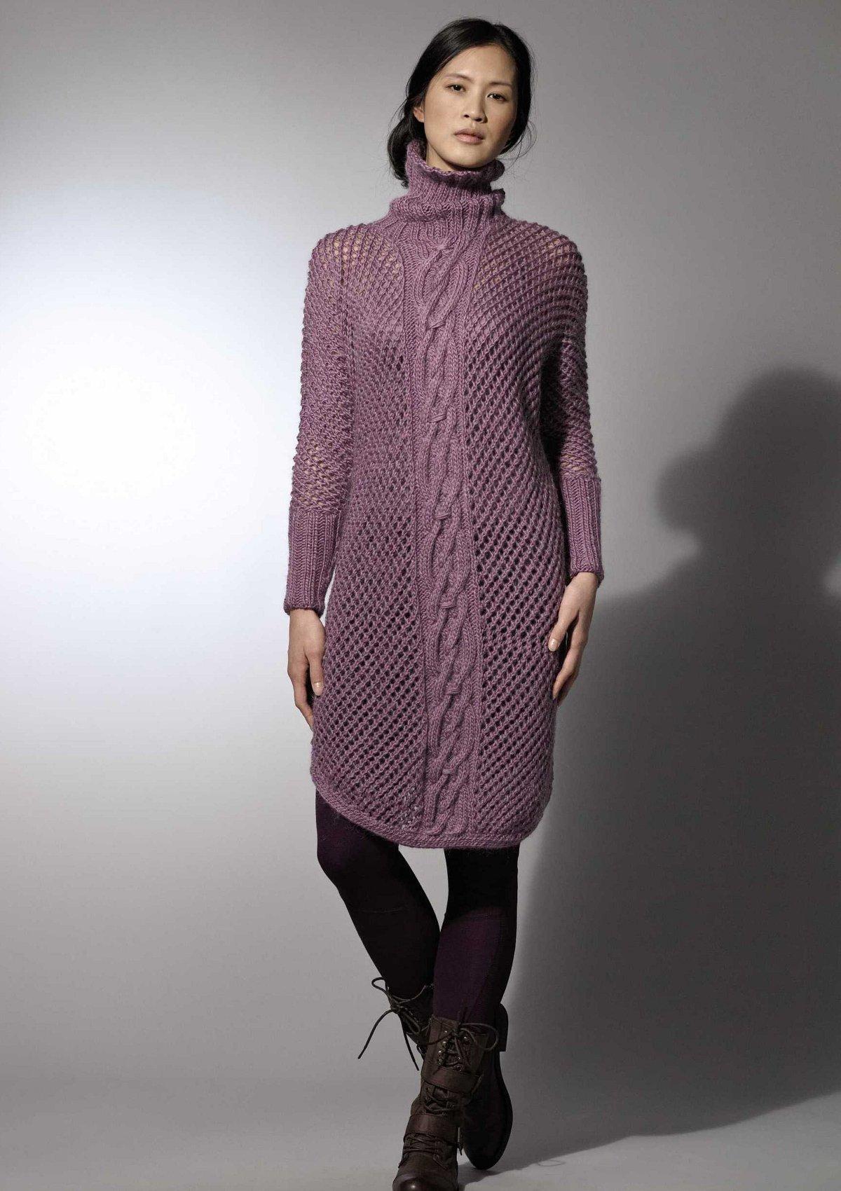 схема вязания спицами туники для жен