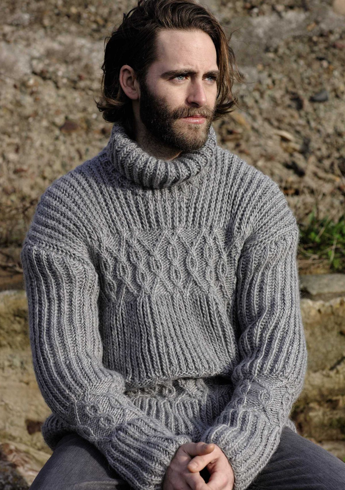 Вязание для мужчин джемпера