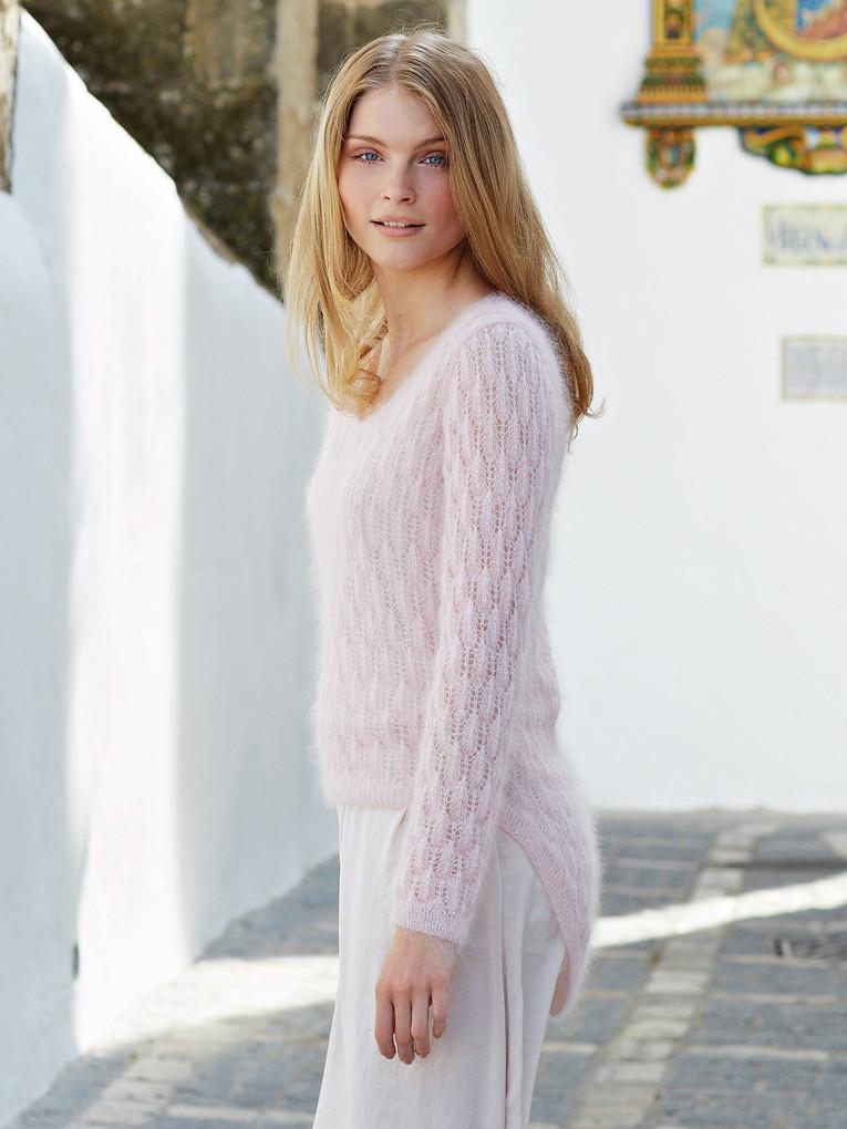 Вязание из мохера свитеров 734