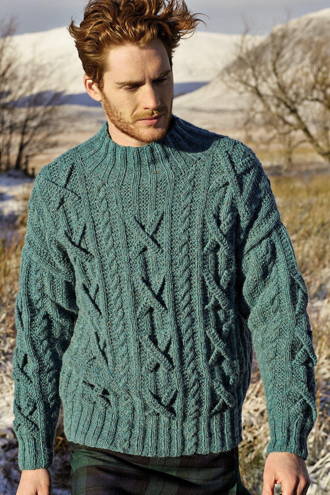 Вязание спицами мужской пуловер джемпер 22