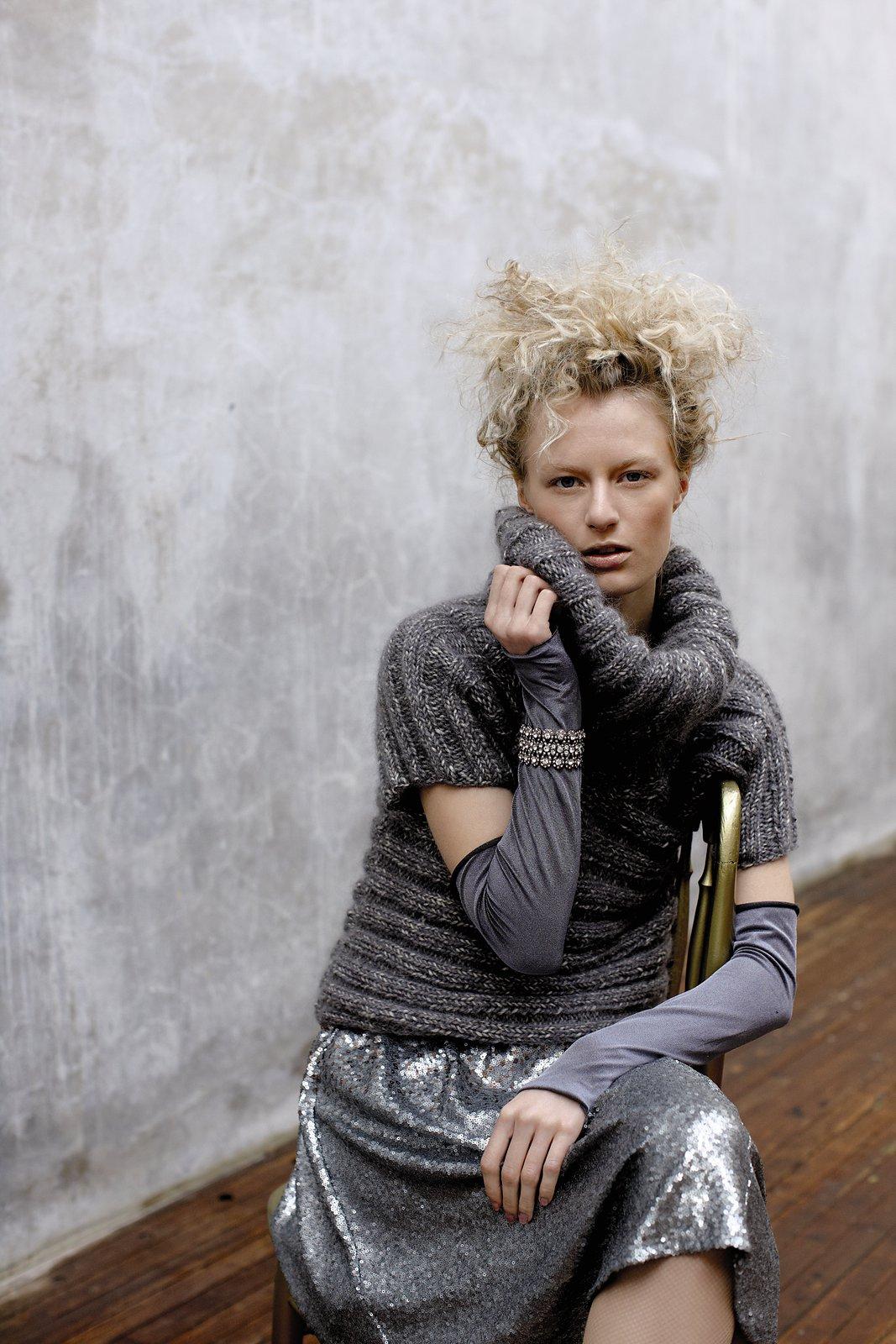 вязаный свитер женский с большим воротником схемы