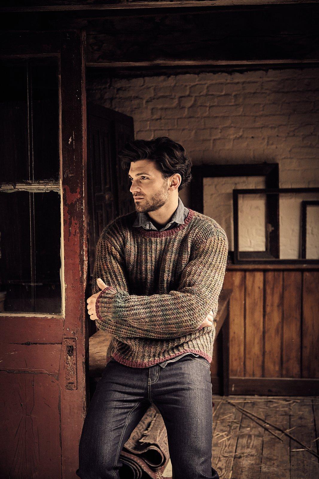 мужские свитера с регланом и шалевым воротником вязаные схемы