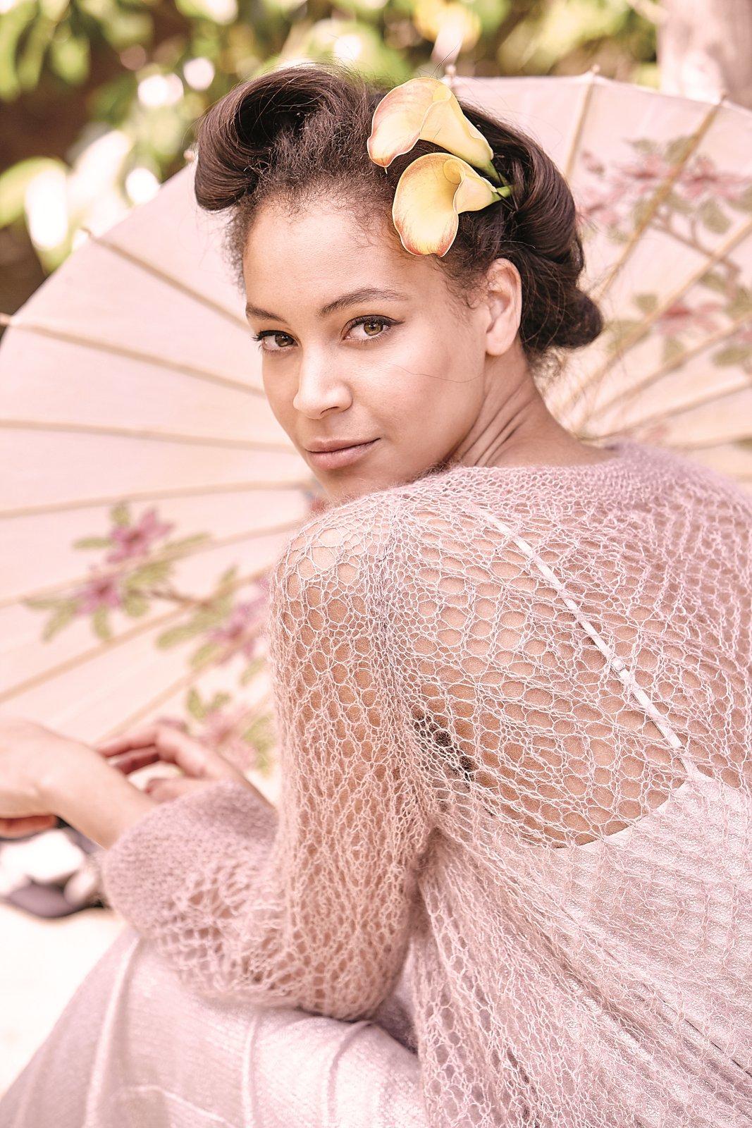 схема вязания женского пуловера из мохера