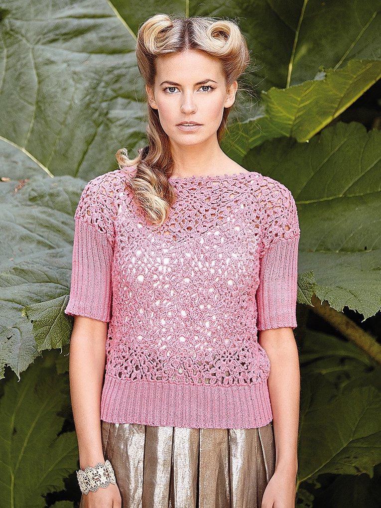 Вязание спицами для женщин модные модели 2018 лето 36