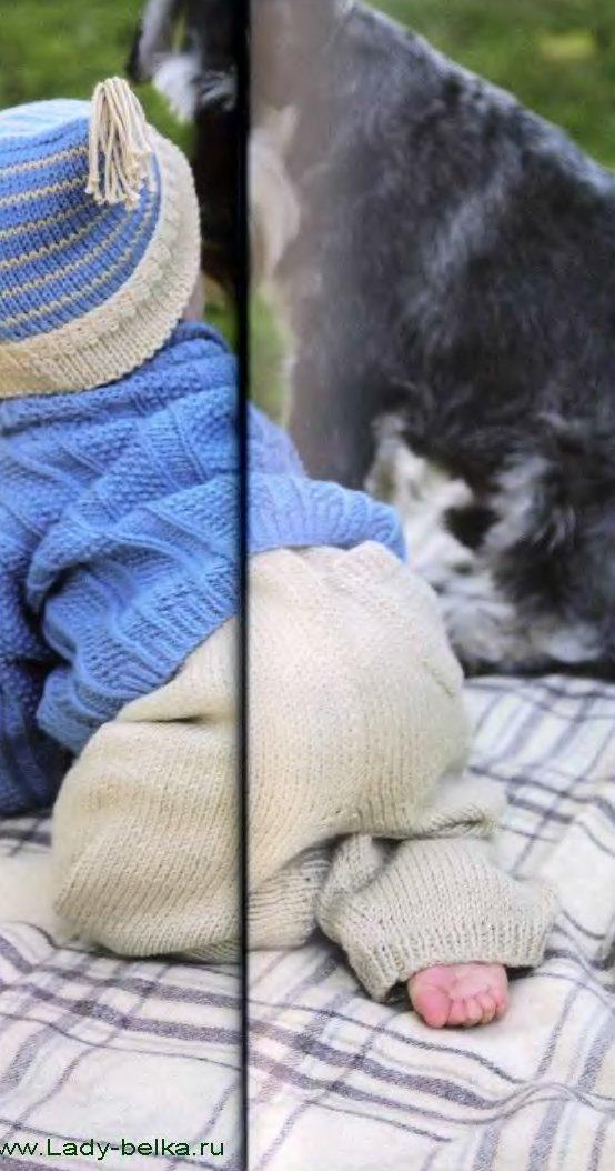 вязаные штанишки под памперс вяжиру