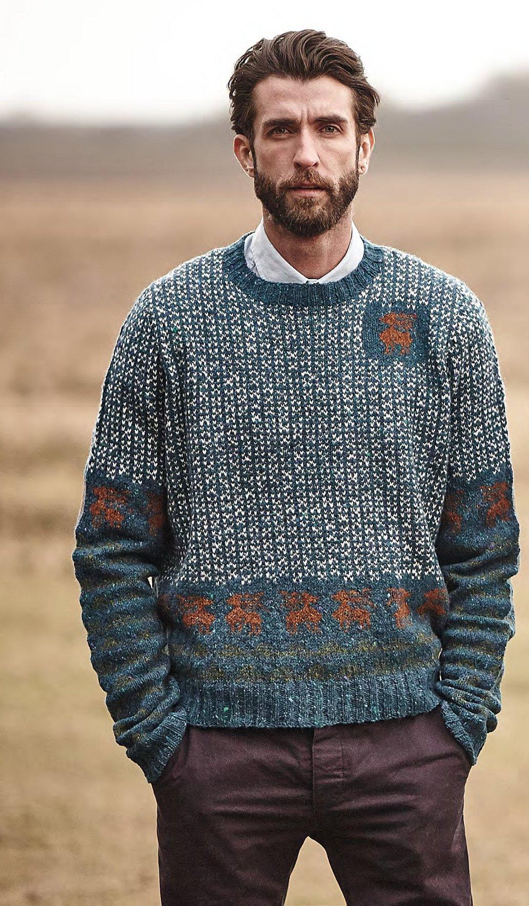 d660e4d0319cc Рождественский свитер и пуловер с оленями - Вяжи.ру