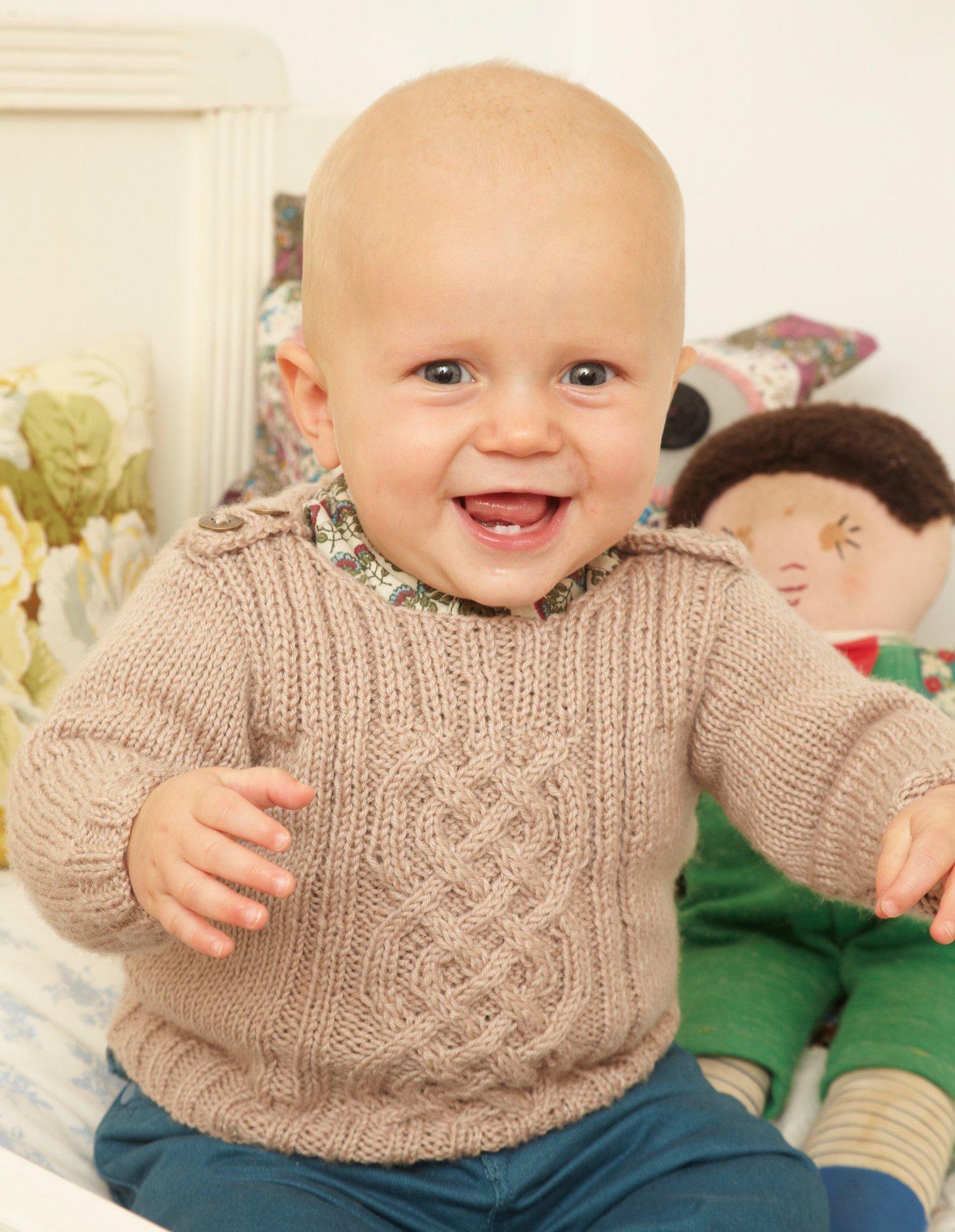 кофточка для малыша спицами с застежкой на плече вяжиру