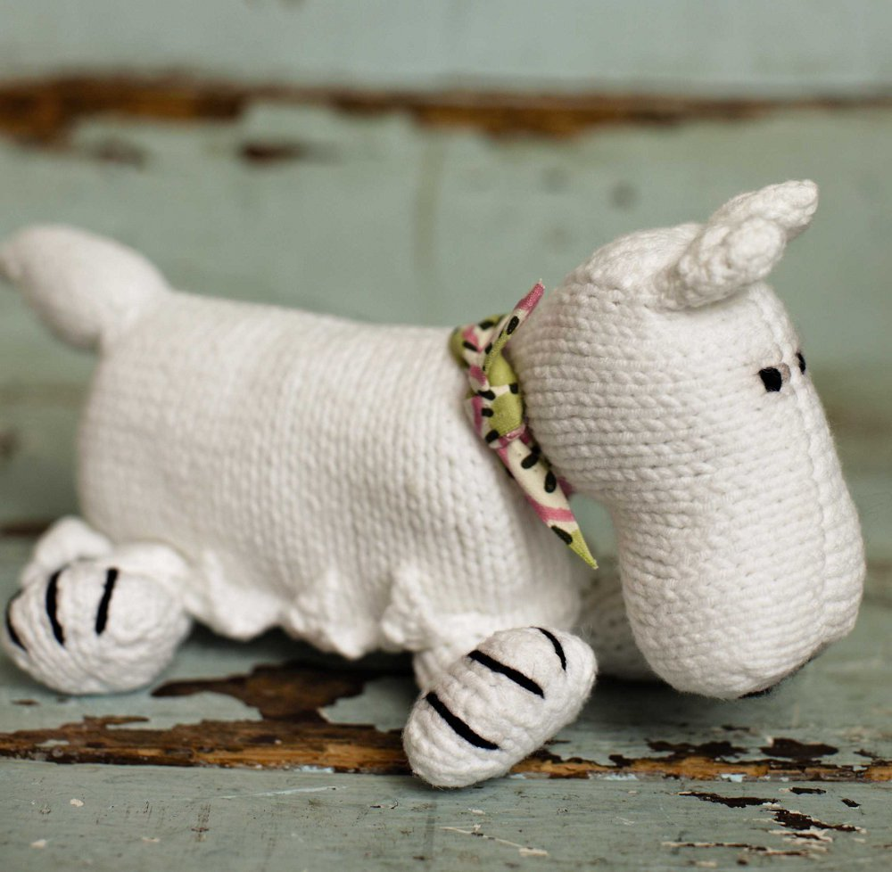 вязание игрушки Scotty Dog Rowan Summer Baby вяжиру